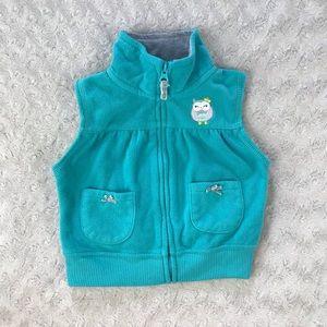Carter's Owl Vest Fleece Full Zip 12 Months